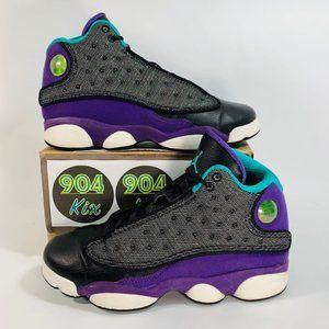 Air Jordan 13 Retro 'Black-Violet-Teal', Sz 5.5Y